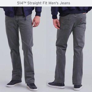 "Levi's Men's 514 Straight Leg Gray 36W x 34"" Jeans"